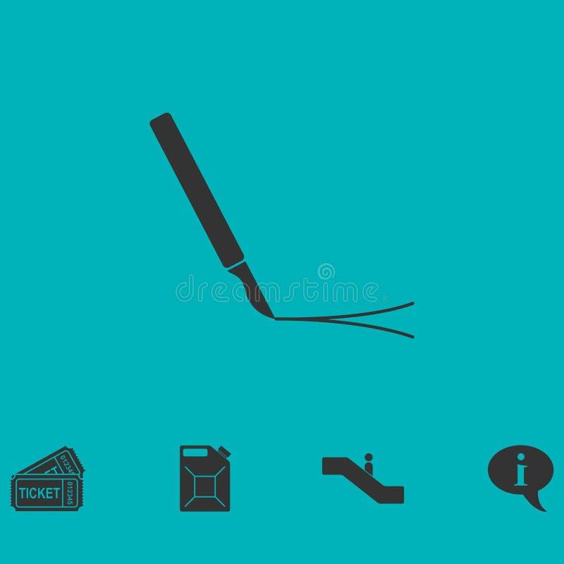 Icône de chirurgie d'incision à plat illustration stock
