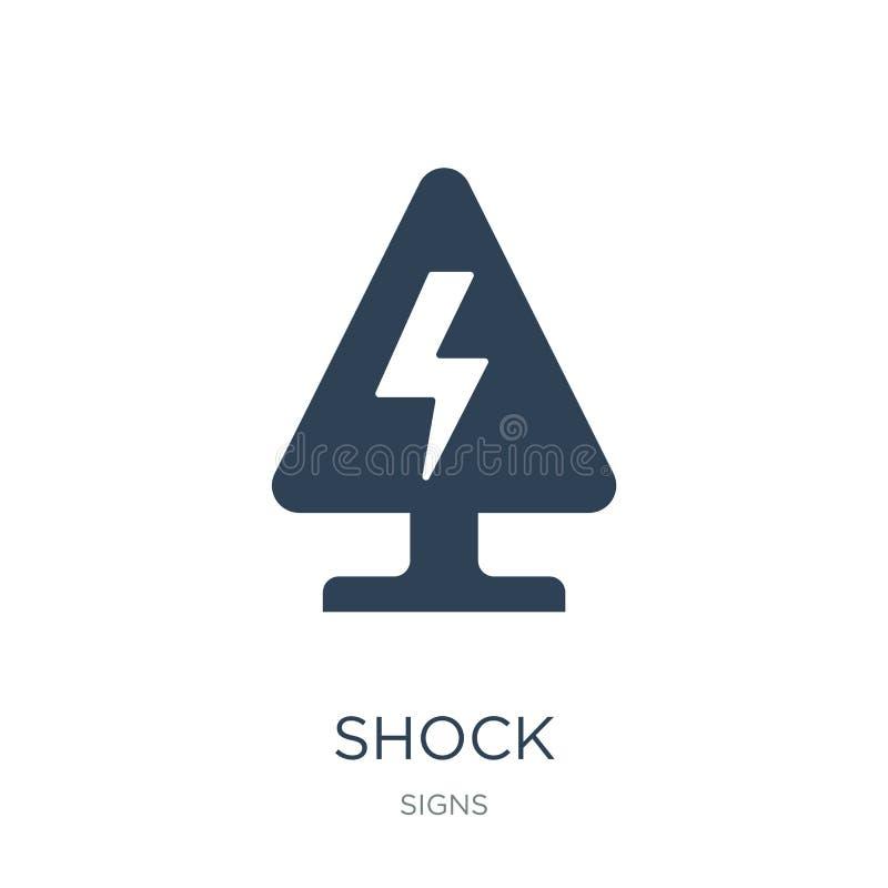 icône de choc dans le style à la mode de conception icône de choc d'isolement sur le fond blanc symbole plat simple et moderne d' illustration libre de droits