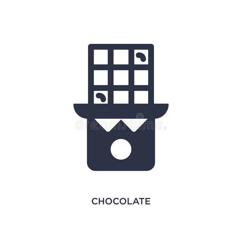 Icône de chocolat sur le fond blanc Illustration simple d'élément de concept d'aliments de préparation rapide illustration de vecteur