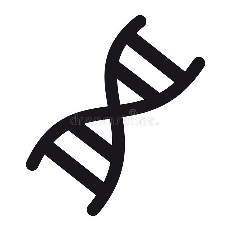 Icône de chromosome d'ADN - illustration de vecteur - d'isolement sur le blanc illustration de vecteur