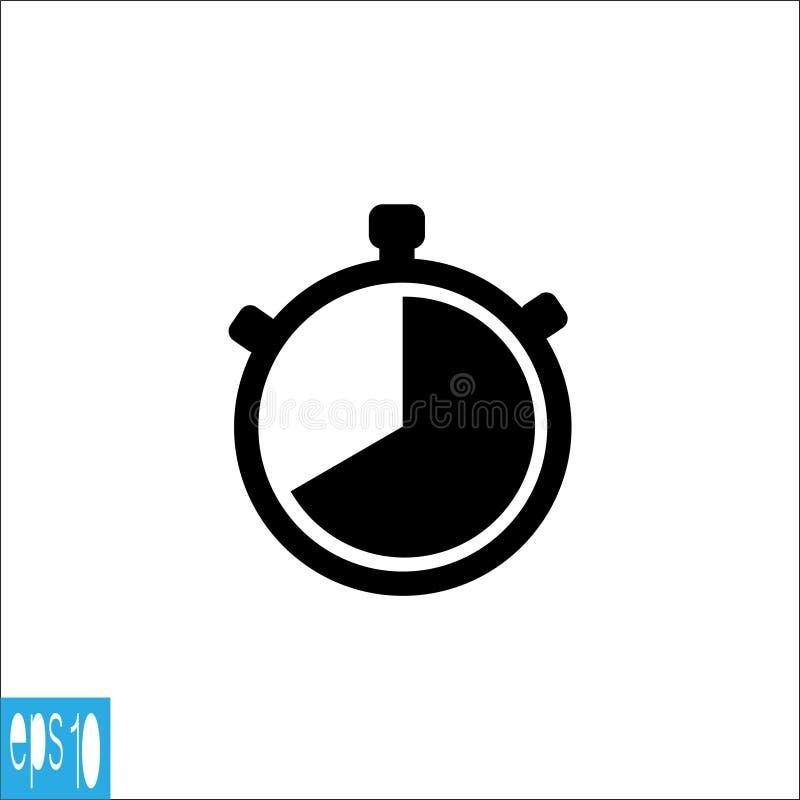 Icône de chronomètre, couleur de blac de signe - illustration de vecteur illustration libre de droits