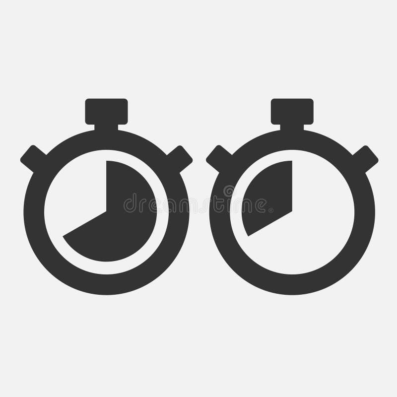 Icône de chronomètre quarante secondes illustration de vecteur