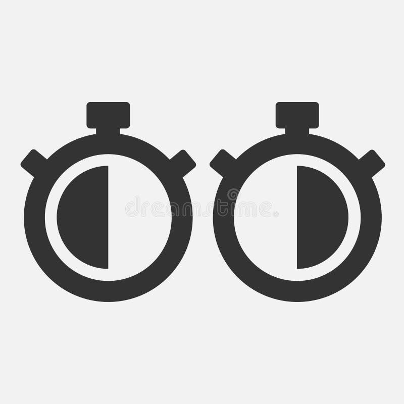 Icône de chronomètre trente secondes illustration stock