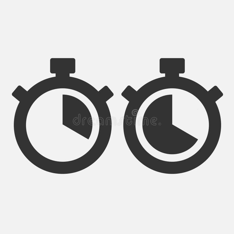Icône de chronomètre vingt secondes illustration de vecteur