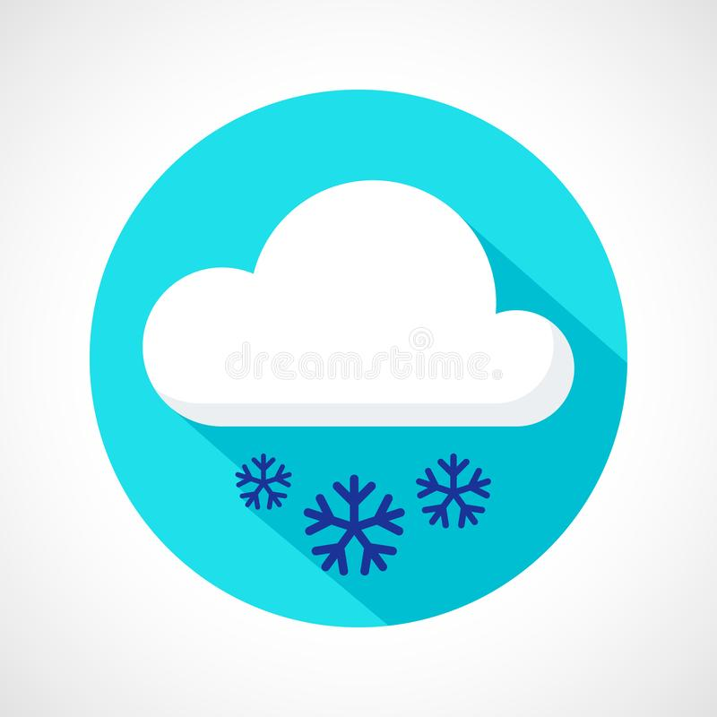 Icône de chutes de neige de temps illustration stock