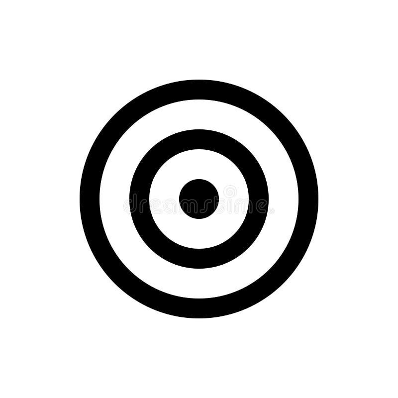 Icône de cible, boudine ou signe de cible illustration de vecteur