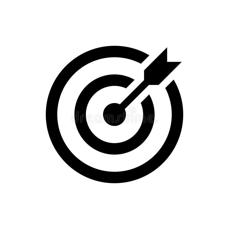 Icône de cible, symbole de but commercial illustration stock