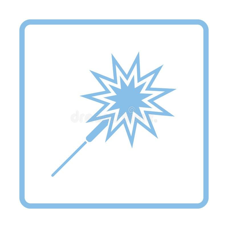 Icône de cierge magique de partie illustration libre de droits