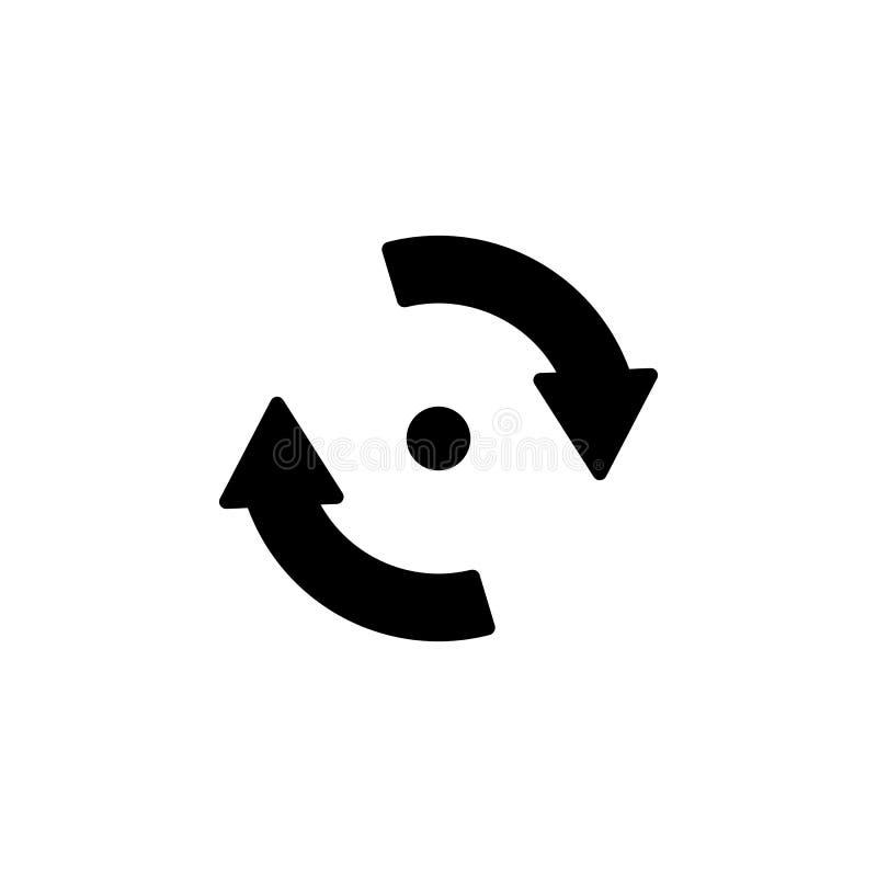 icône de circulaire de point et de flèches Élément d'icône minimalistic pour les apps mobiles de concept et de Web Signes et icôn illustration libre de droits