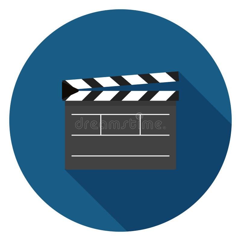 Icône de clapet de film dans la conception plate illustration stock