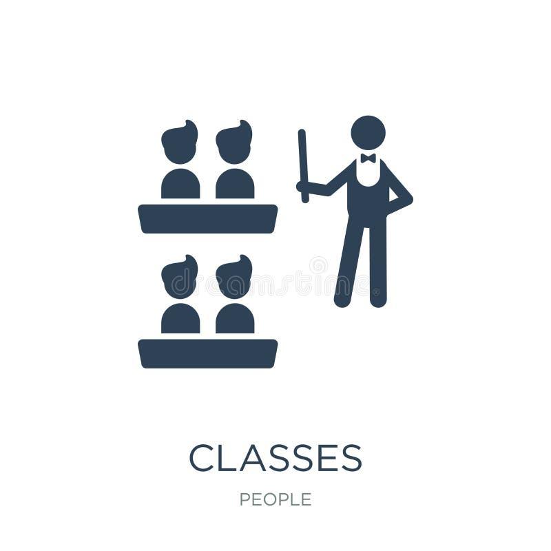 icône de classes dans le style à la mode de conception icône de classes d'isolement sur le fond blanc symbole plat simple et mode illustration libre de droits