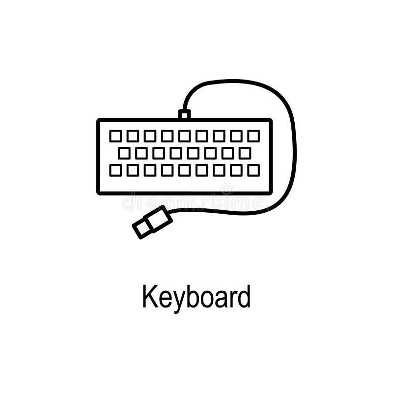 Icône de clavier Élément de pièce d'ordinateur pour les apps mobiles de concept et de Web Ligne mince icône pour la conception de illustration libre de droits