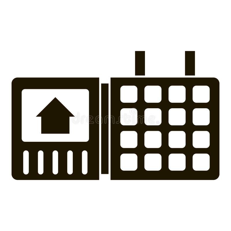 Icône de clavier numérique de maison de sécurité, style simple illustration stock