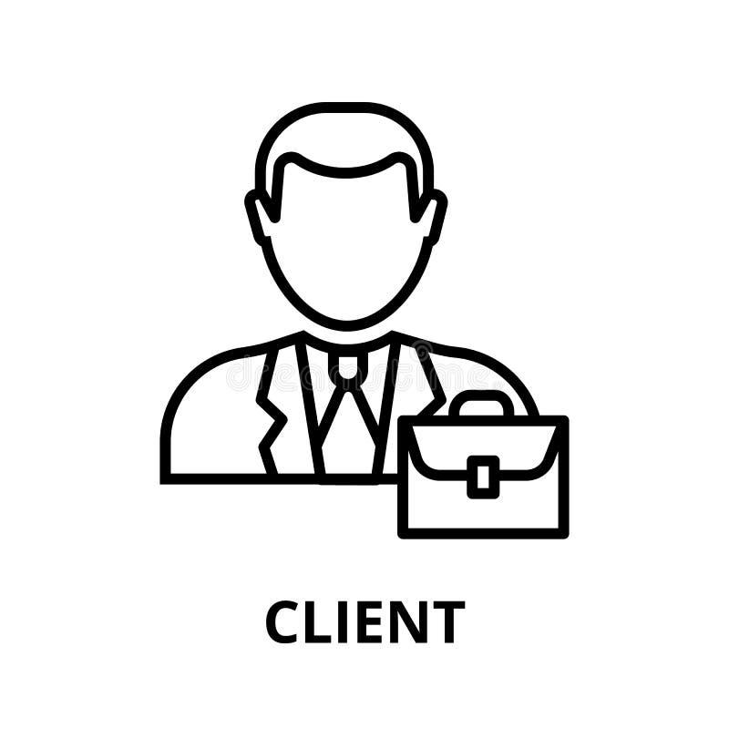 Icône de client, pour le graphique et le web design illustration libre de droits