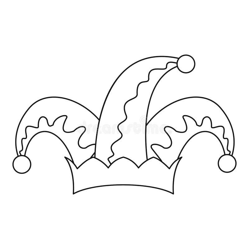 Icône de cloche de chapeau d'humeur, style d'ensemble illustration de vecteur