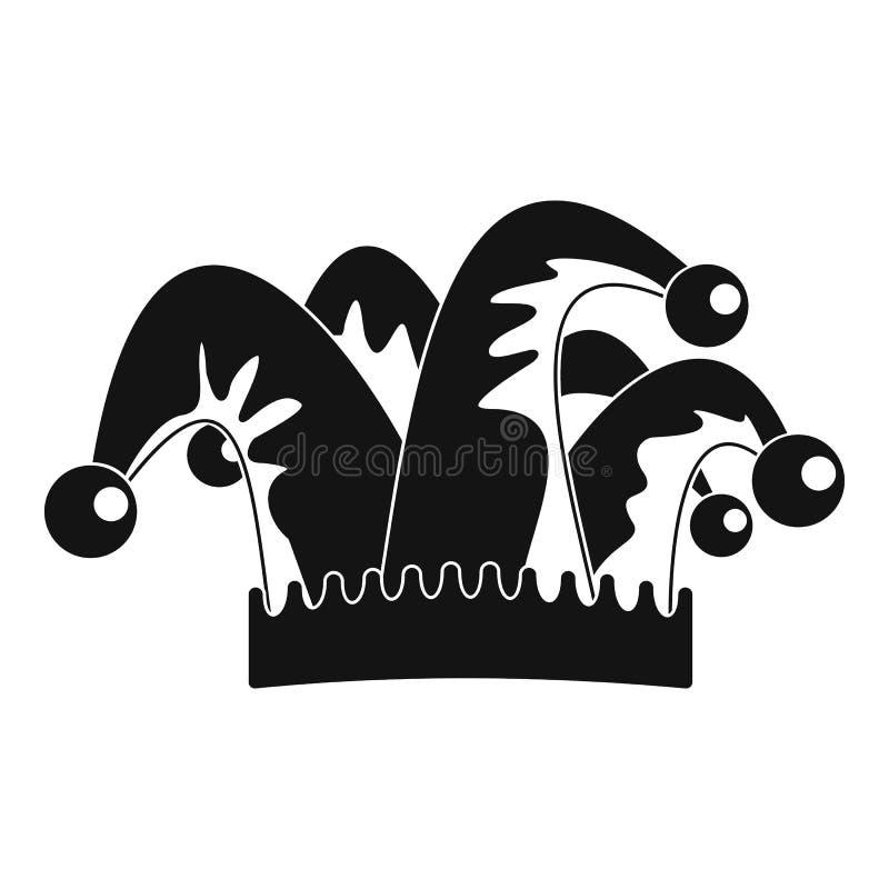 Icône de cloche de chapeau d'humeur, style simple illustration libre de droits