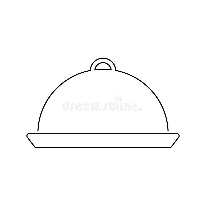 Icône de cloche de restaurant illustration stock