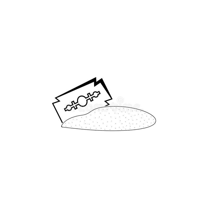 icône de cocaïne Éléments de mauvaise habitude pour les apps mobiles de concept et de Web Icône pour la conception de site Web et illustration libre de droits