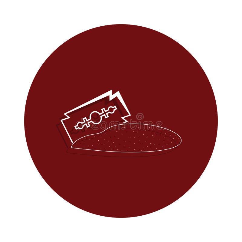 icône de cocaïne dans le style d'insigne de glyph Un de la mauvaise icône de collection de habbits peut être employé pour UI/UX illustration libre de droits