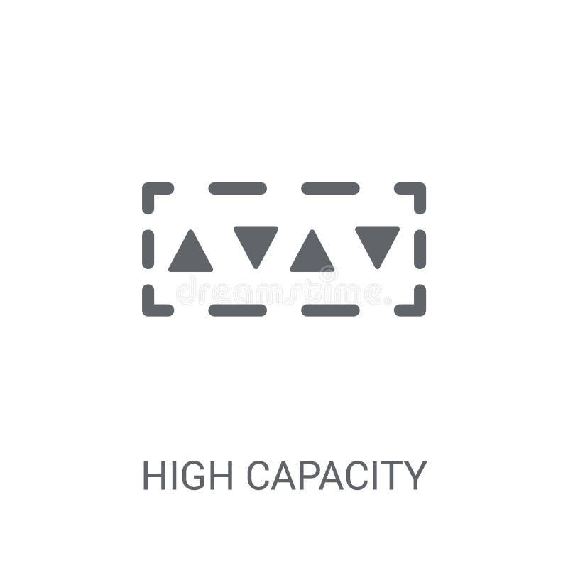 Icône de code barres de couleur de capacité élevée  illustration libre de droits