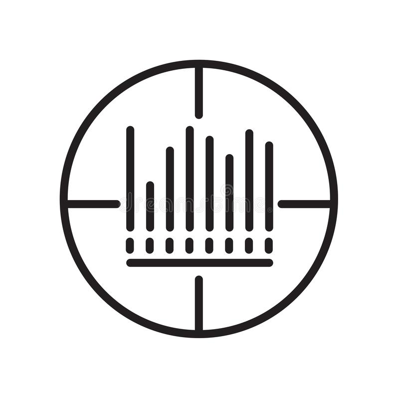 Icône de code barres d'isolement sur le fond blanc images libres de droits
