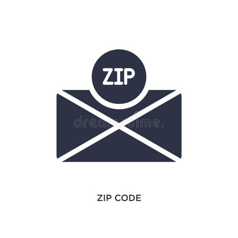 icône de code postal sur le fond blanc Illustration simple d'élément de concept de la livraison et de logistique illustration stock