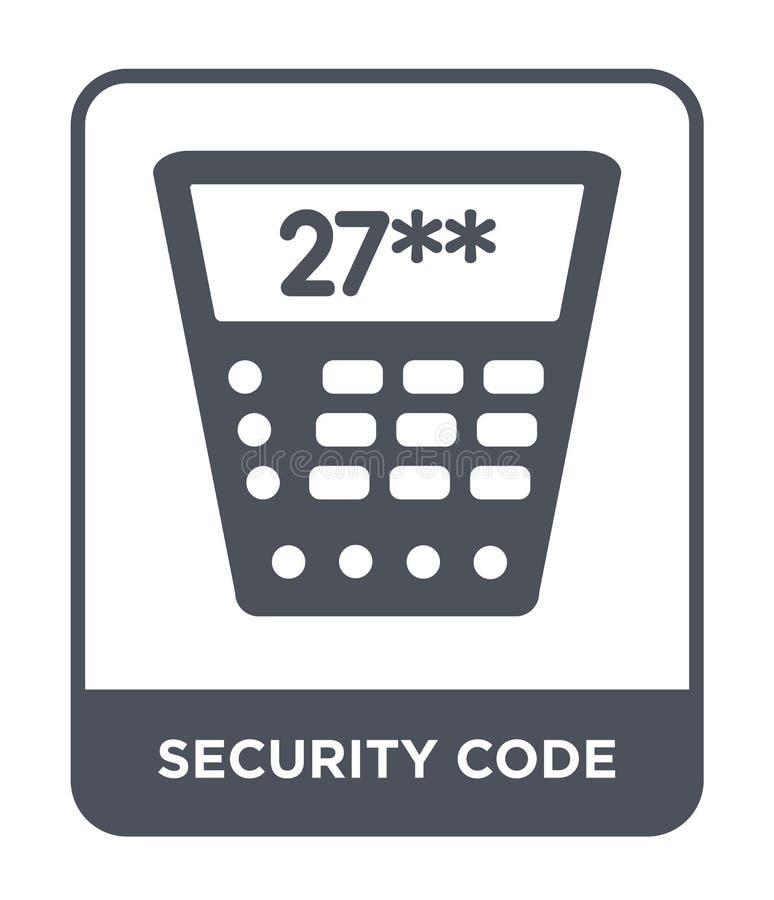 icône de code de sécurité dans le style à la mode de conception icône de code de sécurité d'isolement sur le fond blanc icône de  illustration stock