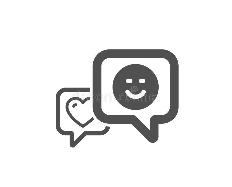 Icône de coeur et de sourire Favori comme le signe Vecteur illustration de vecteur