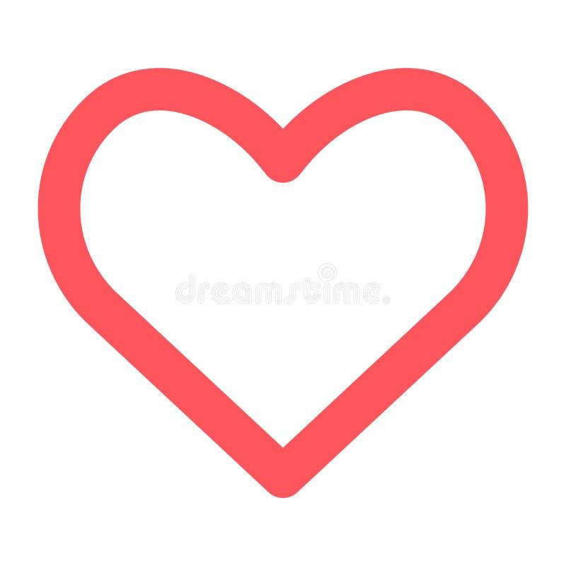 Icône de coeur sur le fond blanc symbole EPS10 de vecteur illustration libre de droits