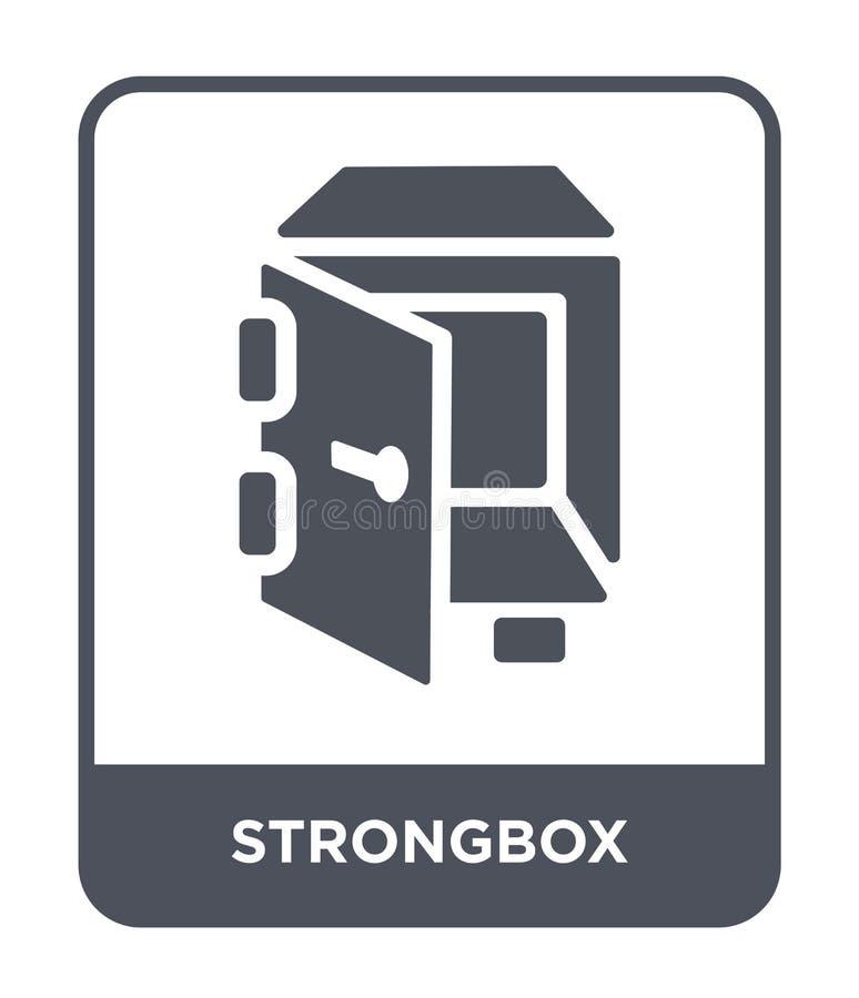 icône de coffre-fort dans le style à la mode de conception Icône de coffre-fort d'isolement sur le fond blanc appartement simple  illustration de vecteur