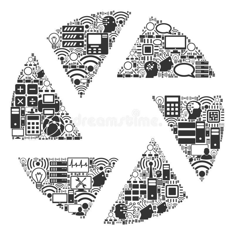Icône de collage de volet pour BigData et le calcul illustration libre de droits
