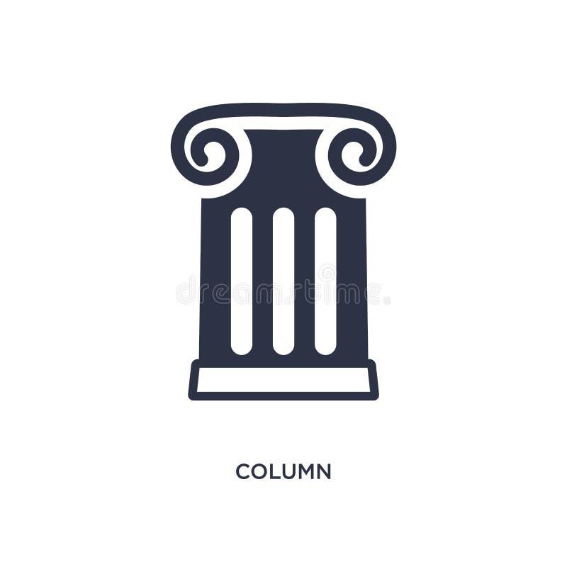 icône de colonne sur le fond blanc Illustration simple d'élément de concept d'histoire illustration libre de droits
