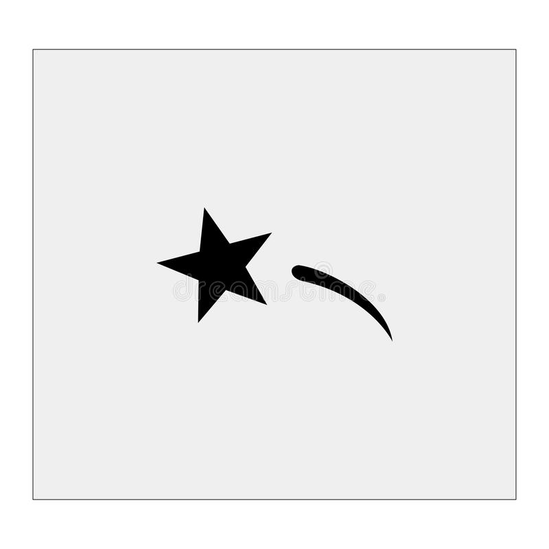 Icône de comète Fond gris Illustration de vecteur illustration de vecteur