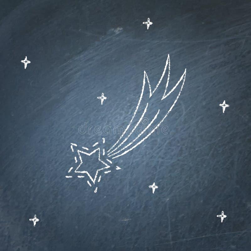 Icône de comète sur le tableau illustration de vecteur