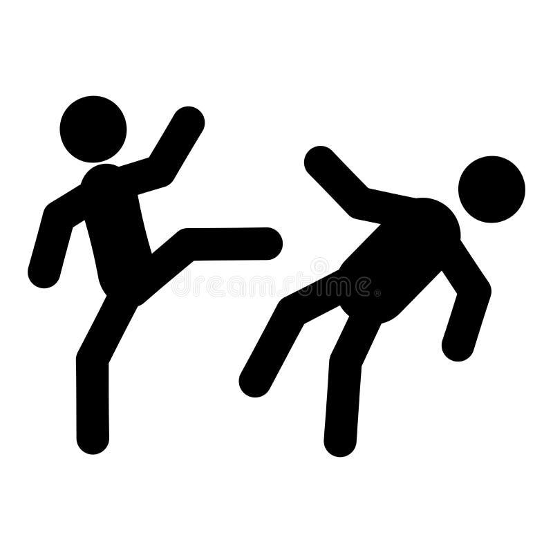 Icône de combattants de karaté illustration stock