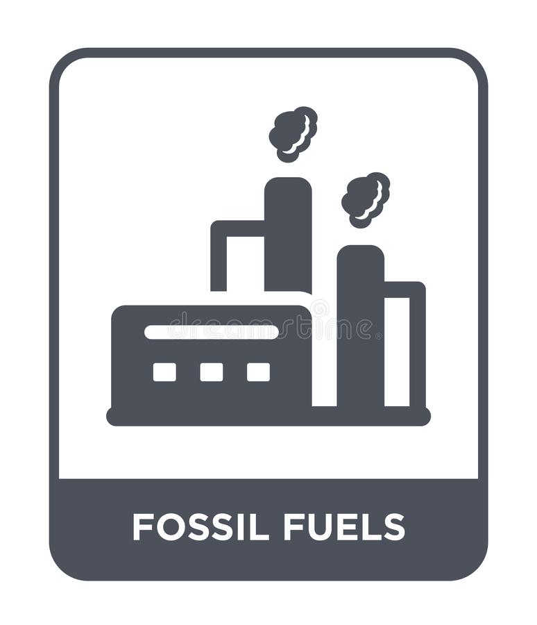 icône de combustibles fossiles dans le style à la mode de conception icône de combustibles fossiles d'isolement sur le fond blanc illustration libre de droits