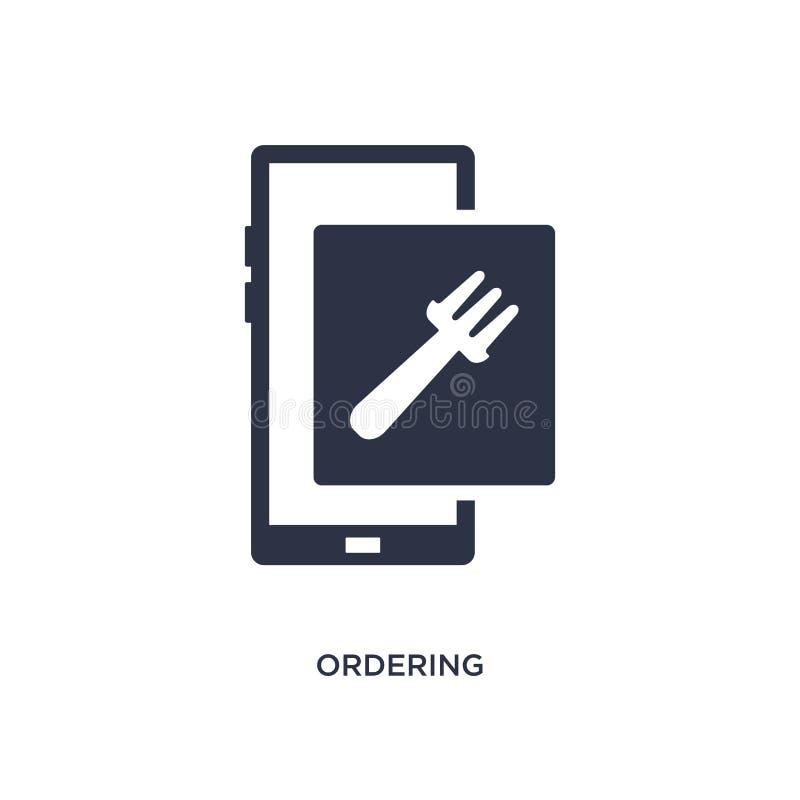 icône de commande sur le fond blanc Illustration simple d'élément de concept d'aliments de préparation rapide illustration de vecteur