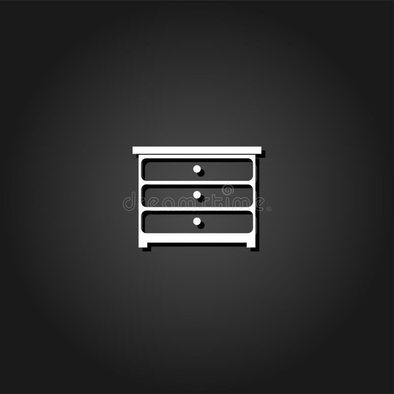 Icône de commode plate illustration de vecteur
