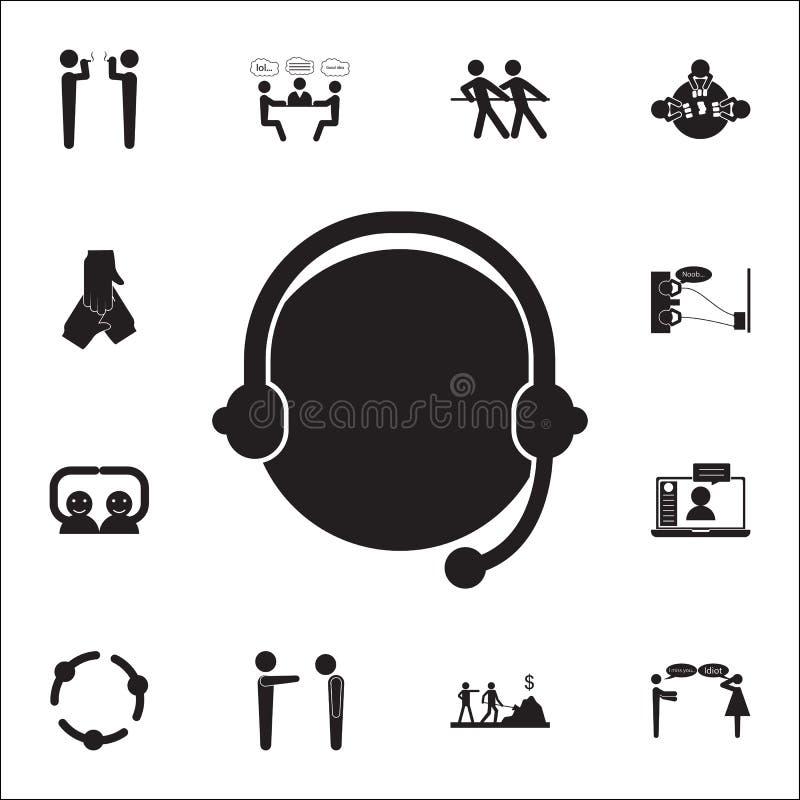 Icône de communication d'Internet Ensemble universel d'icônes de conversation et d'amitié pour le Web et le mobile illustration de vecteur