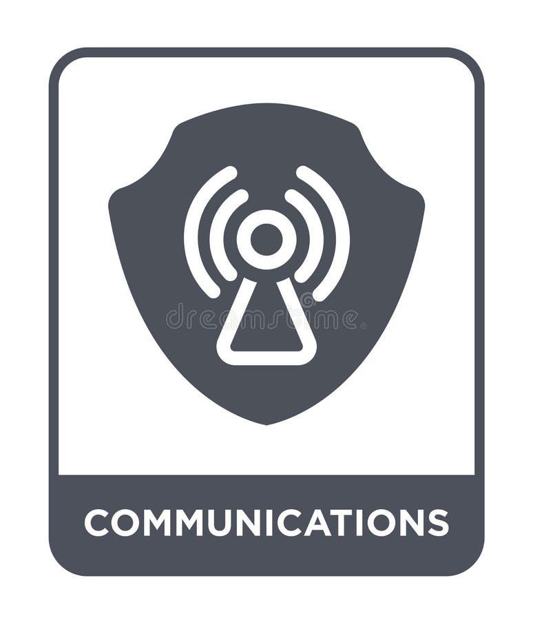 icône de communications dans le style à la mode de conception icône de communications d'isolement sur le fond blanc icône de vect illustration stock