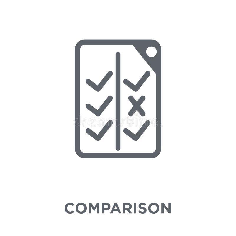 Icône de comparaison de la collection de démarrage illustration stock