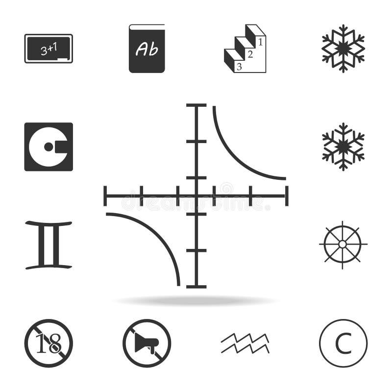 Icône de complot d'hyperbole Ensemble détaillé d'icônes de Web Conception graphique de qualité de la meilleure qualité Une des ic illustration de vecteur