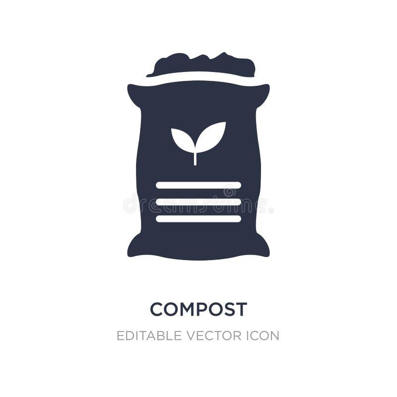 icône de compost sur le fond blanc Illustration simple d'élément de notion générale illustration libre de droits