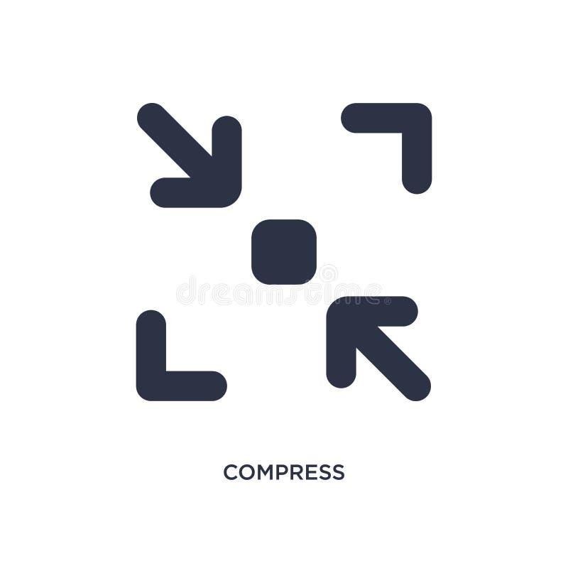 icône de compresse sur le fond blanc Illustration simple d'élément de concept d'interface utilisateurs illustration libre de droits