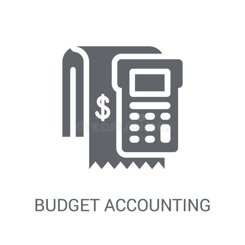 icône de comptabilité de budget Concept à la mode de logo de comptabilité de budget dessus illustration stock