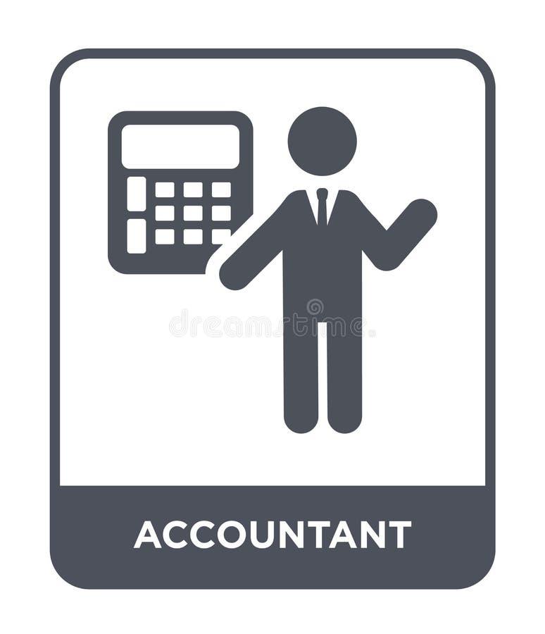 icône de comptable dans le style à la mode de conception icône de comptable d'isolement sur le fond blanc icône de vecteur de com illustration libre de droits