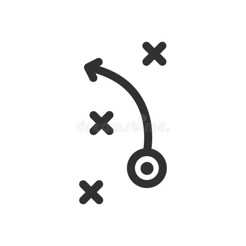 Icône de concept d'affaires de la tactique, concept de stratégie Illustration de vecteur illustration stock