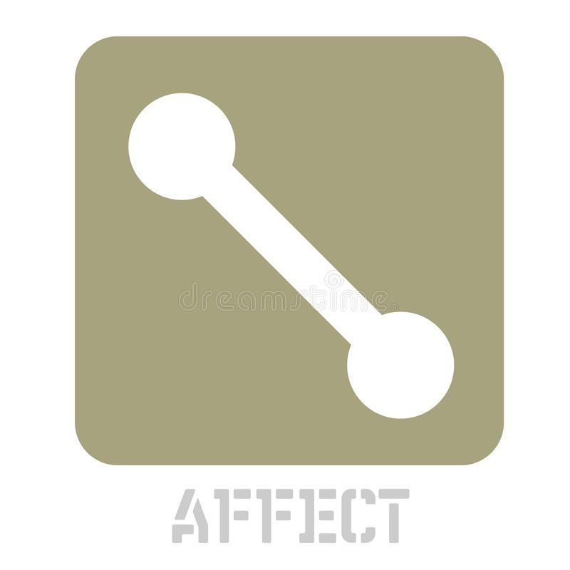 Icône de concept d'affect sur le blanc illustration de vecteur