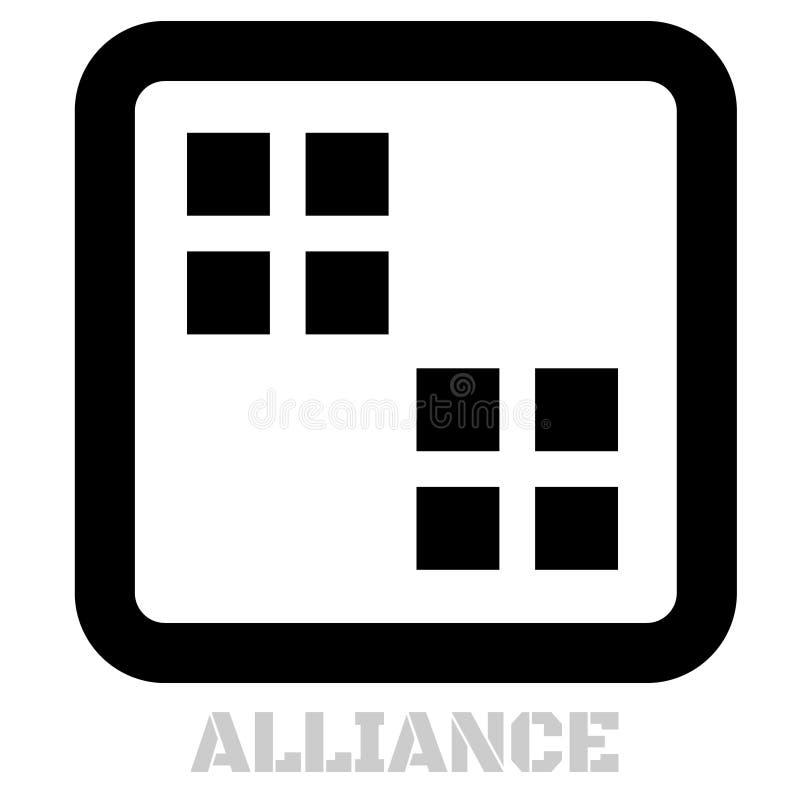 Icône de concept d'Alliance sur le blanc illustration de vecteur