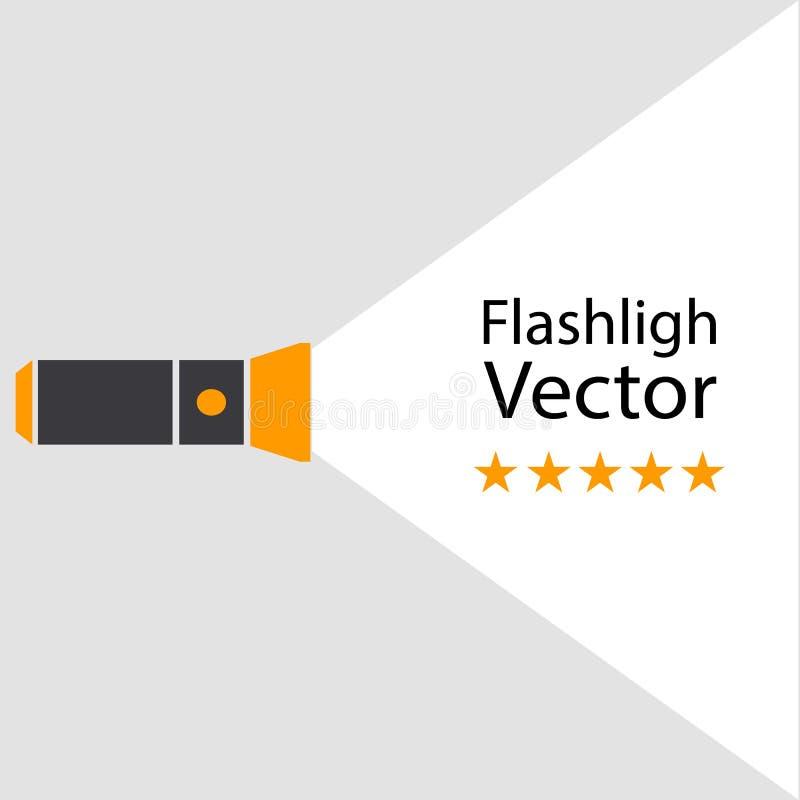 Icône de concept de lampe-torche illustration libre de droits